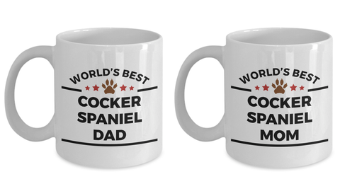 Cocker Spaniel Dog Lover Gift World's Best Dad Mom Mother's Father's Day Birthday Coffee Mug