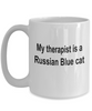 Russian Blue Cat Therapist Coffee Cup