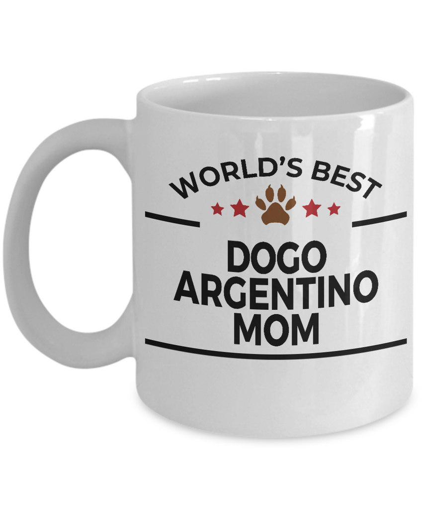 Dogo Argentino Dog Lover Gift World's Best Mom Birthday Mother's Day White Ceramic Coffee Mug
