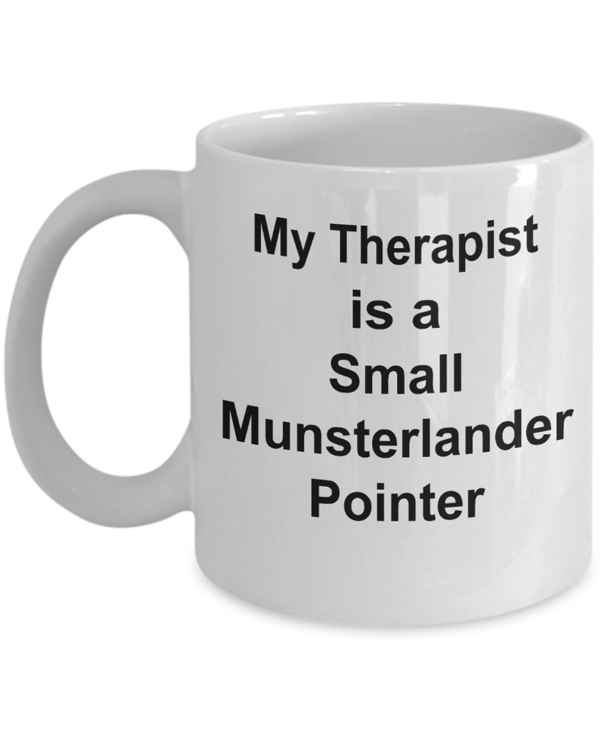 Small Munsterlander Pointer Dog Therapist Funny Gift White Ceramic Coffee Mug