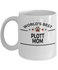 Plott Dog Lover Gift World's Best Mom Birthday Mother's Day White Ceramic Coffee Mug