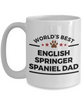 English Springer Spaniel Dog Lover Gift World's Best Dad Father's Day Birthday Coffee Mug