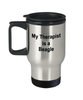 Beagle Dog Therapist Travel Coffee Mug