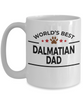 Dalmatian Dog Lover Gift World's Best Dad Birthday Father's Day White Ceramic Coffee Mug