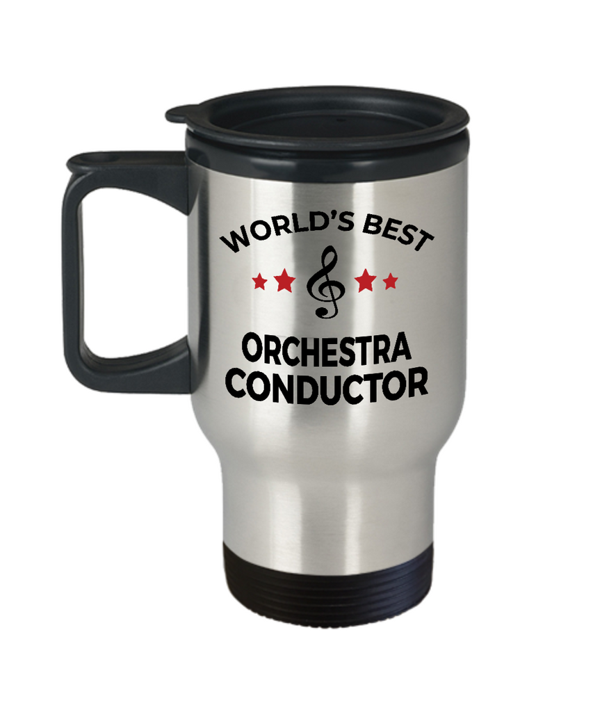 Orchestra Conductor Gift World's Best Birthday Appreciation Thank-you Present Stainless Steel Travel Coffee Tea Mug