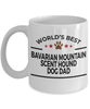 Bavarian Mountain Scent Hound Dog Lover Gift World's Best Dad Birthday Father's Day White Ceramic Coffee Mug