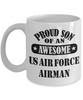 US Air Force Airman Proud Son Coffee Mug