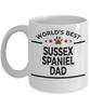 Sussex Spaniel Dog Lover Gift World's Best Dad Birthday Father's Day White Ceramic Coffee Mug