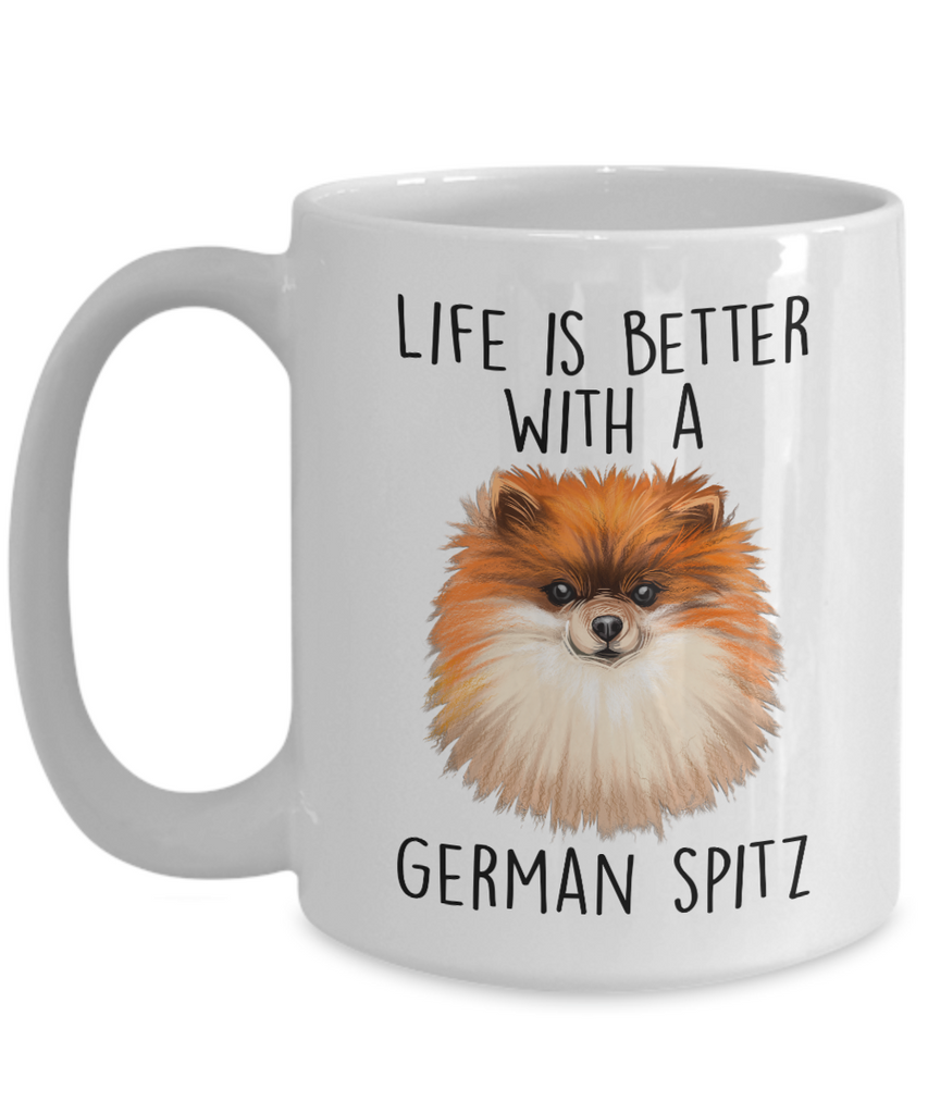 German Spitz Ceramic Coffee Mug Life is Better with a Dog
