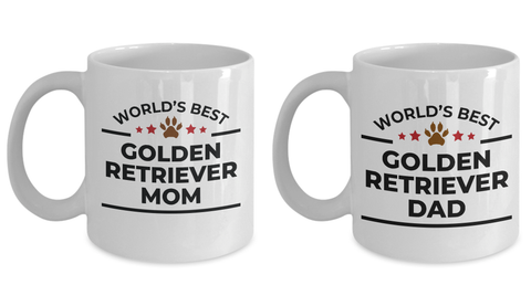 Golden Retriever Mom  Dad Mugs - Set of 2 His and Hers