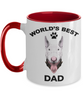 Bull Terrier Best Dad Two-tone coffee mugs