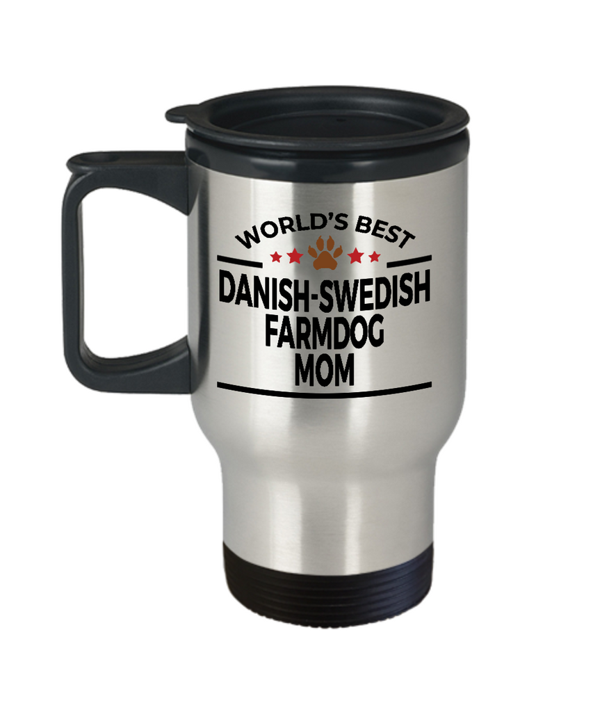 Danish-Swedish Farmdog Mom Travel Coffee Mug