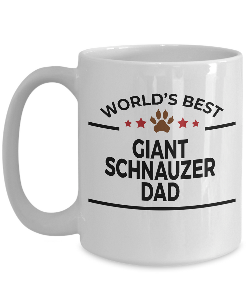Giant Schnauzer Dog Lover Gift World's Best Dad Birthday Father's Day White Ceramic Coffee Mug