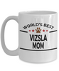 Vizsla Dog Lover Gift World's Best Mom Birthday Mother's Day White Ceramic Coffee Mug
