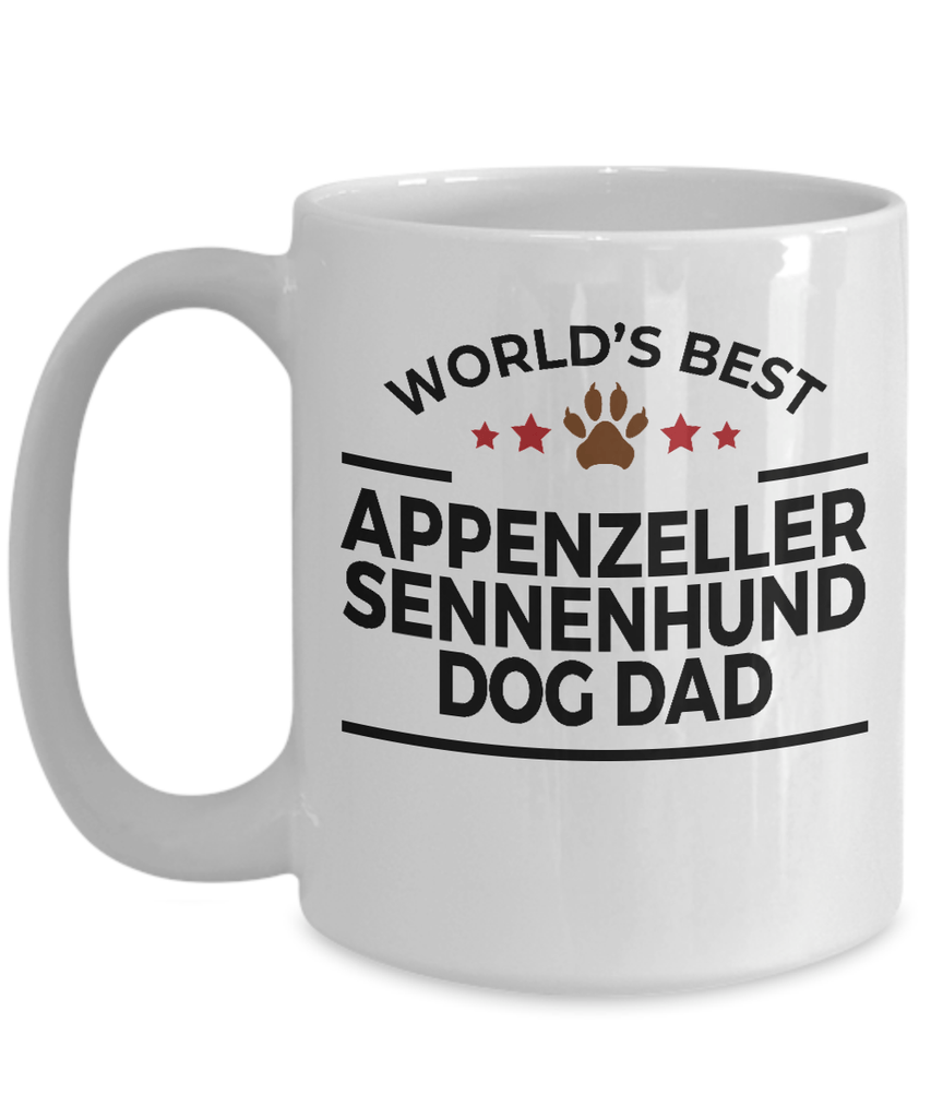 Appenzeller Sennenhund Dog Lover Gift World's Best Dad Birthday Father's Day White Ceramic Coffee Mug