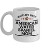American Water Spaniel Dog Lover Gift World's Best Mom Birthday Mother's Day White Ceramic Coffee Mug