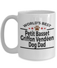 Petit Basset Griffon Vendéen Dog Lover Gift World's Best Dad Birthday Father's Day White Ceramic Coffee Mug