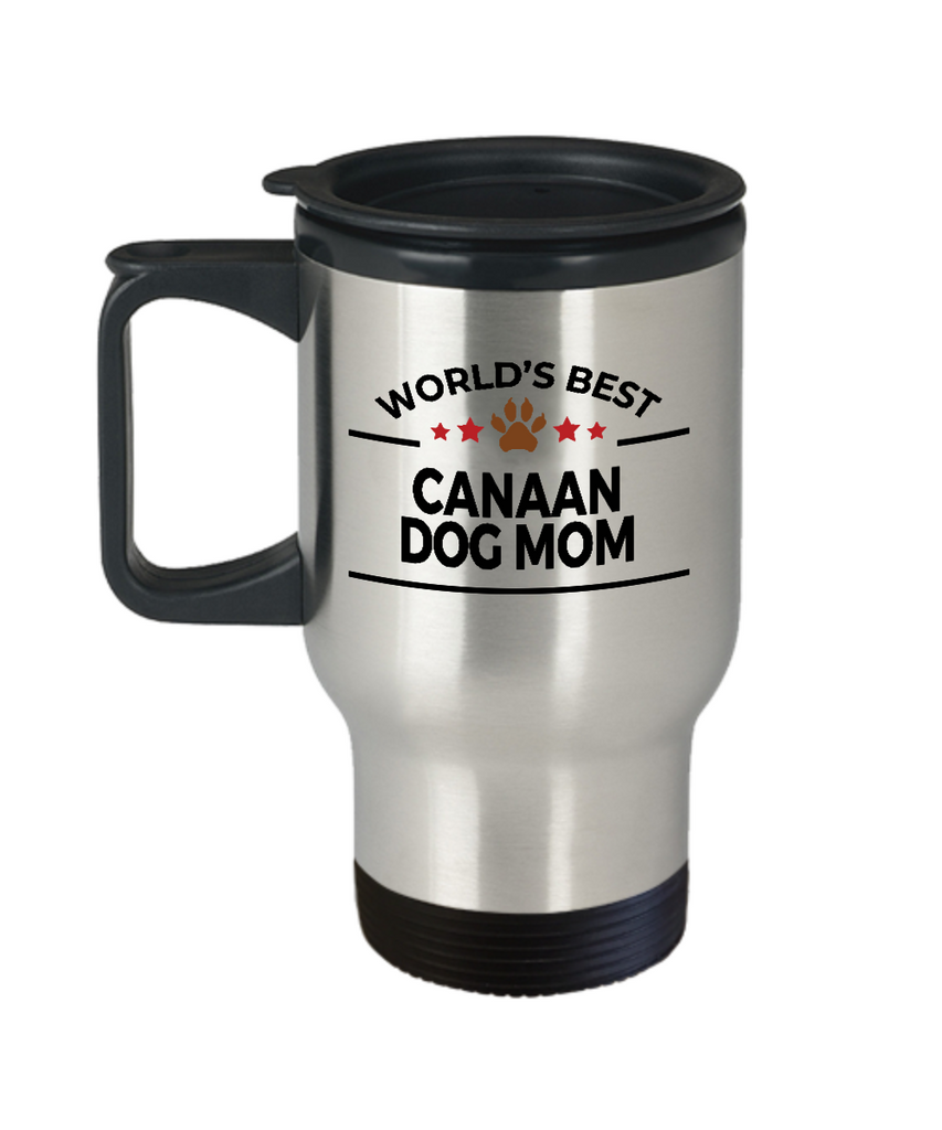 Canaan Dog Lover Gift World's Best Mom Birthday Mother's Day Stainless Steel Insulated Travel Coffee Mug