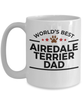 Airedale Terrier Dog Dad Coffee Mug