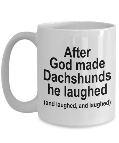 Dachshund Dog Joke Coffee Mug