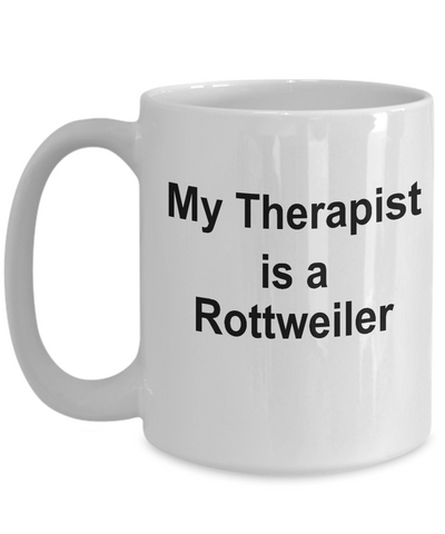 Rottweiler Dog Owner Lover Funny Gift Therapist White Ceramic Coffee Mug