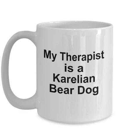 Karelian Bear Dog Owner Lover Funny Gift Therapist White Ceramic Coffee Mug