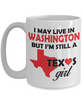 Texas Girl Living in Washington Coffee Mug