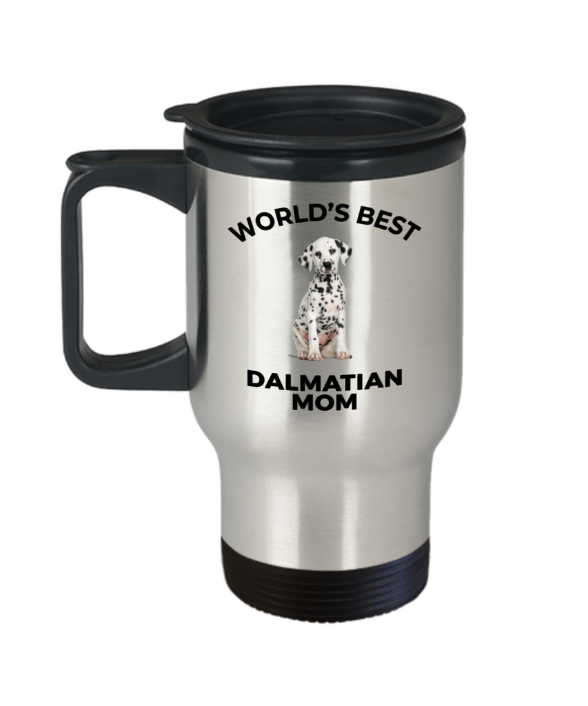 Dalmatian Puppy Dog Mom Travel Coffee Mug
