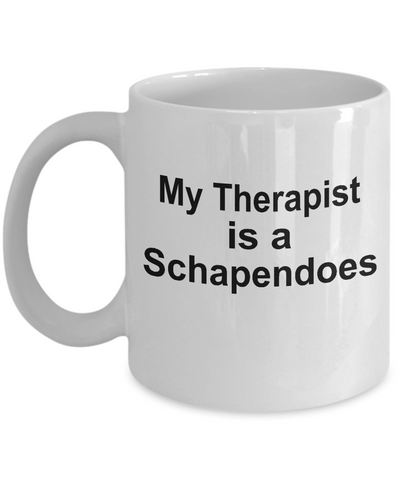 Schapendoes Dog Owner Lover Funny Gift Therapist White Ceramic Coffee Mug