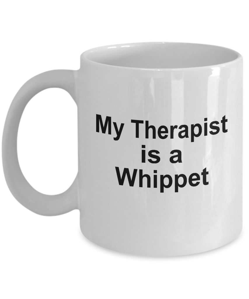 Whippet Dog Owner Lover Funny Gift Therapist White Ceramic Coffee Mug