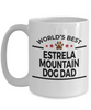 Estrela Mountain Dog Lover Gift World's Best Dad Birthday Father's Day White Ceramic Coffee Mug