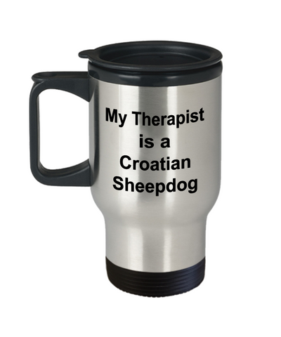 Croatian Sheepdog Dog Therapist Travel Coffee Mug