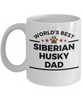 Siberian Husky Dog Lover Owner Gift World's Best Dad Birthday Father's Day Coffee Mug