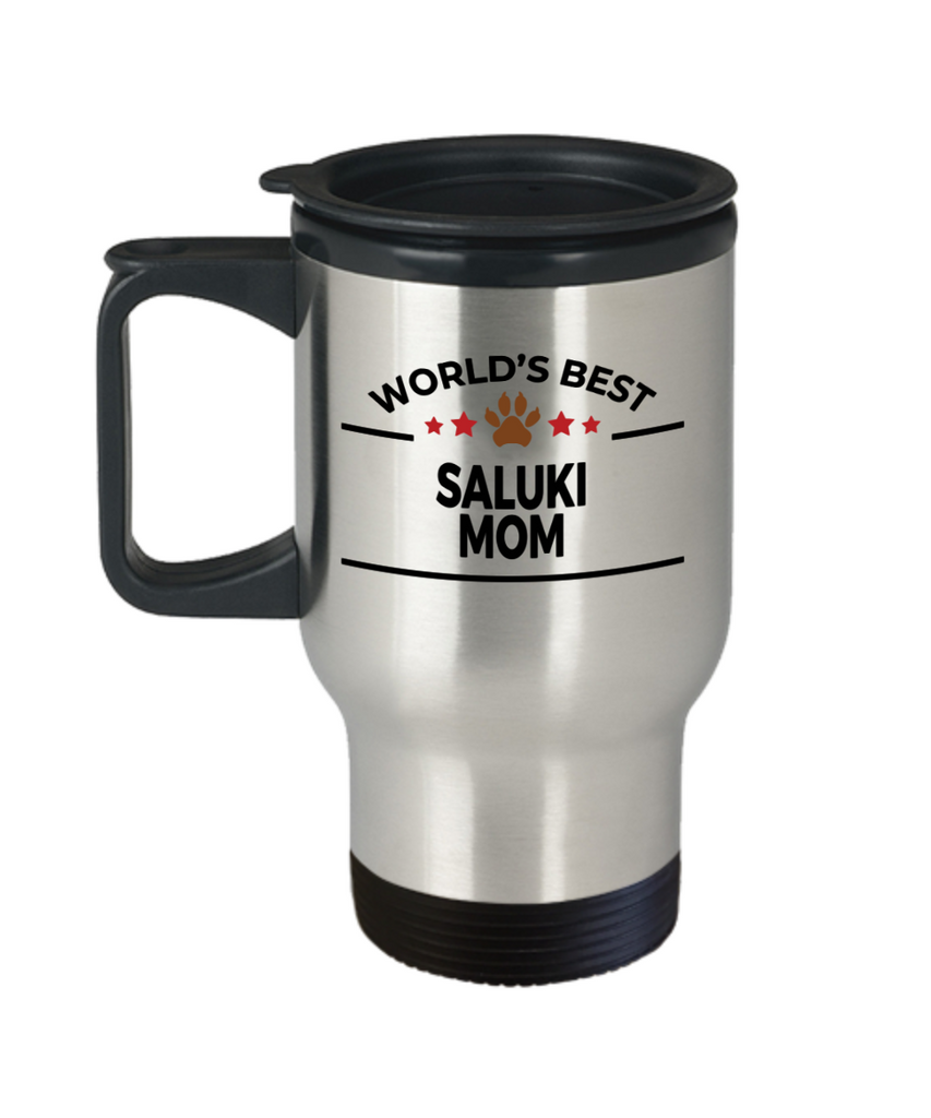 Saluki Dog Lover Gift World's Best Mom Birthday Mother's Day Stainless Steel Insulated Travel Coffee Mug
