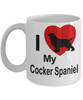 Cocker Spaniel Dog Lover Gift White Ceramic Coffee Mug