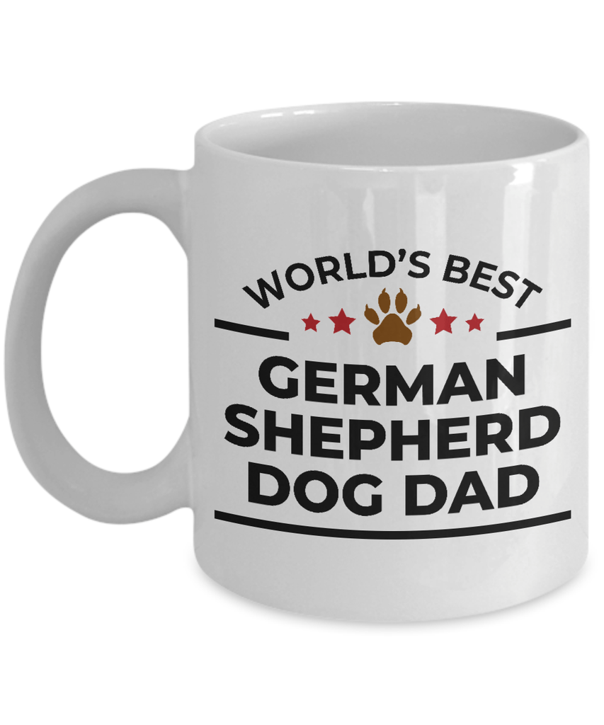World's Best German Shepherd Dog Dad White Ceramic Mug