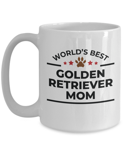 World's Best Golden Retriever Mom White Ceramic Mug