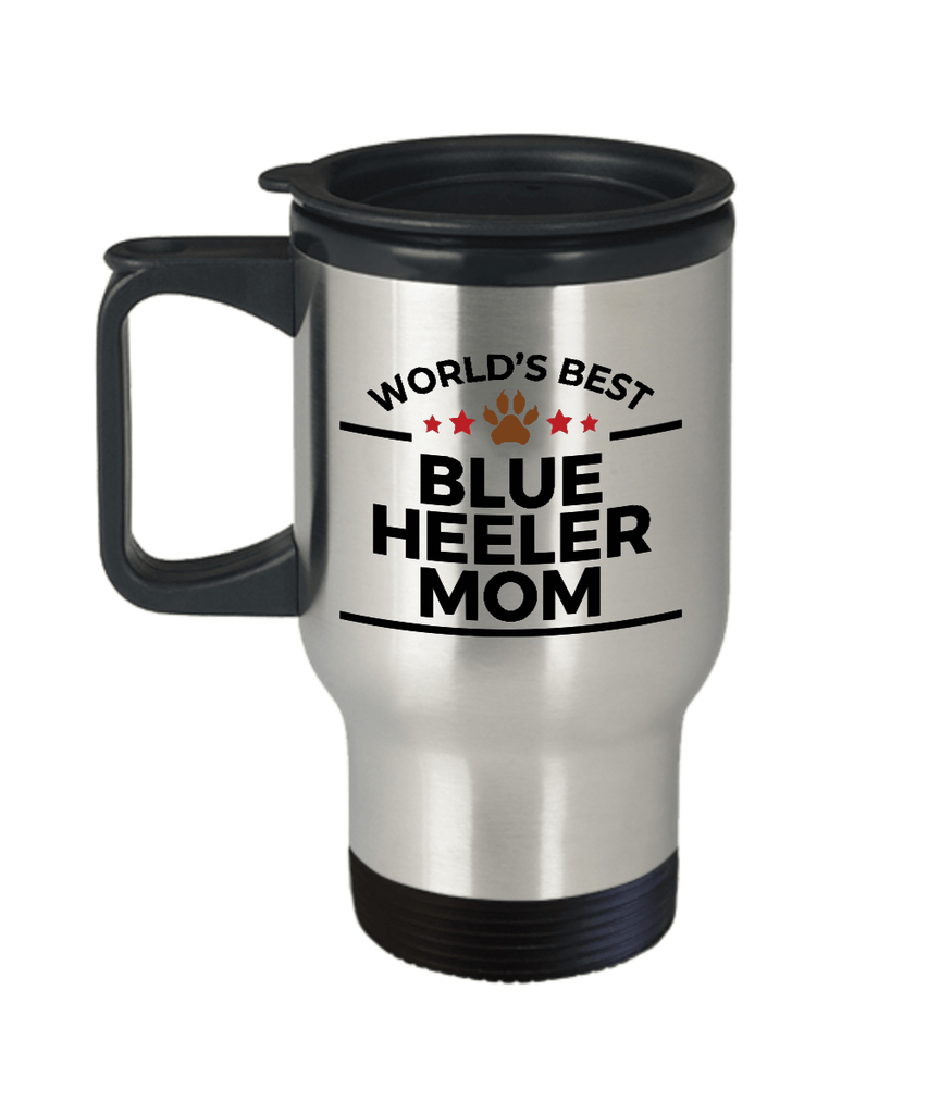 Blue Heeler Dog Mom Travel Coffee Mug