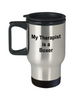Boxer Dog Owner Lover Funny Gift Therapist Stainless Steel Insulated Travel Coffee Mug