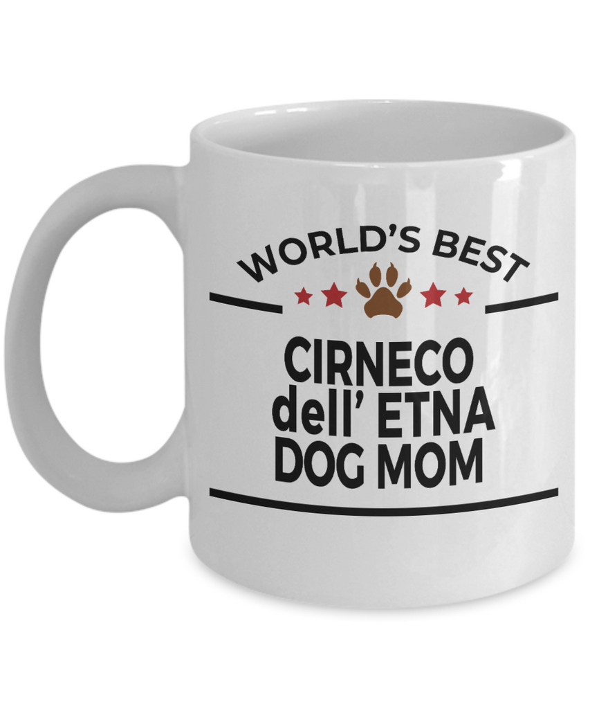 Cirneco dell' Etna Dog Lover Gift World's Best Mom Birthday Mother's Day White Ceramic Coffee Mug