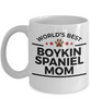 Boykin Spaniel Dog Lover Gift World's Best Mom Birthday Mother's Day White Ceramic Coffee Mug