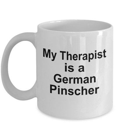 German Pinscher Dog Owner Lover Funny Gift Therapist White Ceramic Coffee Mug