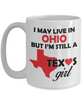 Texas Girl Living in Ohio Coffee Mug