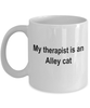 Alley Cat Therapist Coffee Mug