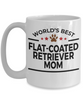 Flat-Coated Retriever Dog Lover Gift World's Best Mom Birthday Mother's Day White Ceramic Coffee Mug