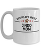 Jindo Dog Lover Gift World's Best Mom Birthday Mother's Day White Ceramic Coffee Mug