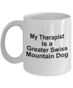 Greater Swiss Mountain Dog Owner Lover Funny Gift Therapist White Ceramic Coffee Mug