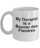 Bouvier des Flandres  Dog Owner Lover Funny Gift Therapist White Ceramic Coffee Mug