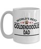 Goldendoodle Dog Lover Gift World's Best Dad Birthday Father's Day White Ceramic Coffee Mug