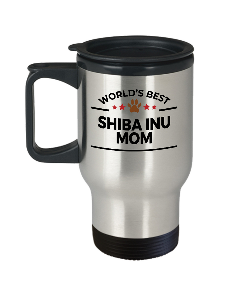 Shiba Inu Dog Lover Gift World's Best Mom Birthday Mother's Day Stainless Steel Insulated Travel Coffee Mug